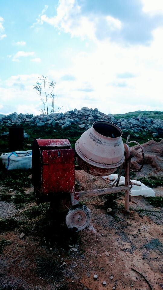 Zementmischer Festung Réthymnon Kreta 2017